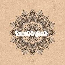 Popierinė servetėlė MANDALA (¼ foto), 1 vnt.