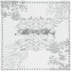 Popierinė servetėlė (¼ foto) 2064 (sidabro sp.)