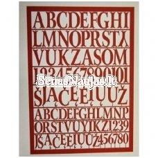 Popierinės didžiosios lietuviškos raidės ir skaičiai