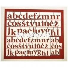 Popierinės mažosios lietuviškos raidės