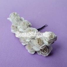 Popierinės rožytės, balta sp., 12 žiedų