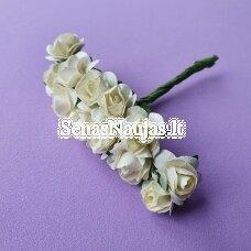Popierinės rožytės, dramblio kaulo sp., 12 žiedų