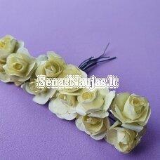 Popierinės rožytės, gelsva sp., 12 žiedų