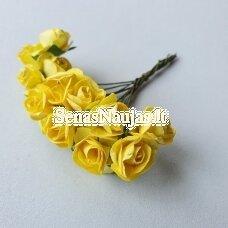Popierinės rožytės, geltona sp., 12 žiedų