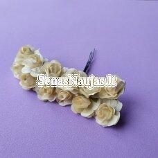 Popierinės rožytės, kreminė sp., 12 žiedų