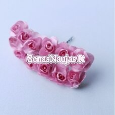 Popierinės rožytės, rožinė sp., 12 žiedų