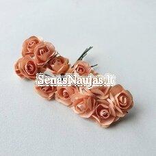 Popierinės rožytės, šviesi lašišos sp., 12 žiedų