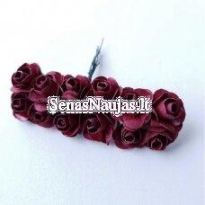 Popierinės rožytės, tamsi raudona sp., 12 žiedų