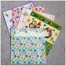 Set of 5 paper napkins (small pictures)