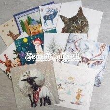Popierinių servetėlių rinkinys su gyvūnėlių motyvais