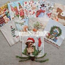 Popierinių servetėlių rinkinys su kalėdiniais, žiemos motyvais
