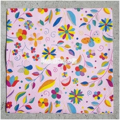 Popierinių servetėlių rinkinys (smulkūs motyvai) 4