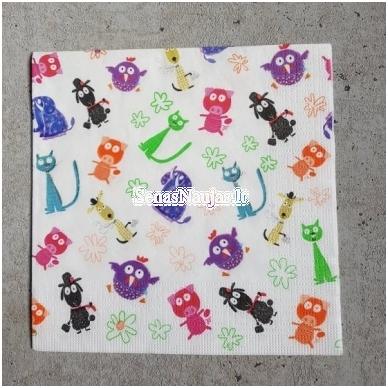 Popierinių servetėlių rinkinys (smulkūs motyvai) 5