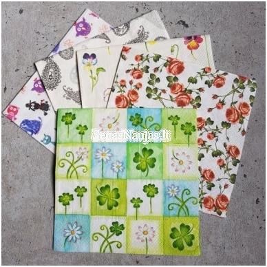 Popierinių servetėlių rinkinys (smulkūs motyvai)