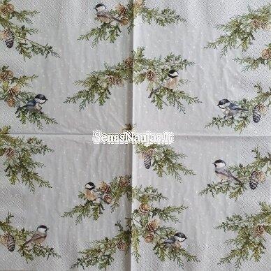 Popierinių servetėlių rinkinys su paukščių motyvais 4