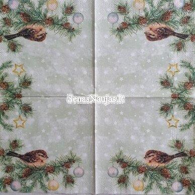 Popierinių servetėlių rinkinys su paukščių motyvais 6