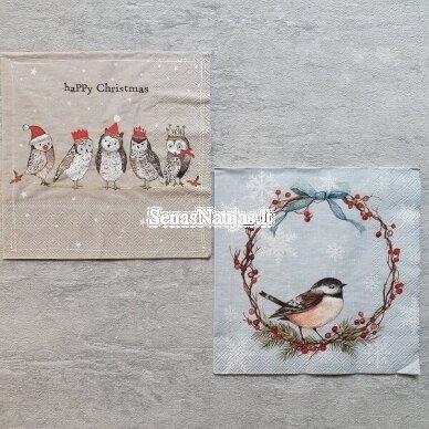 Popierinių servetėlių rinkinys su paukščių motyvais 2