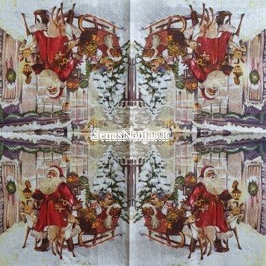 Popierinių servetėlių rinkinys su kalėdiniais, Kalėdų Senelis ir kt. 3