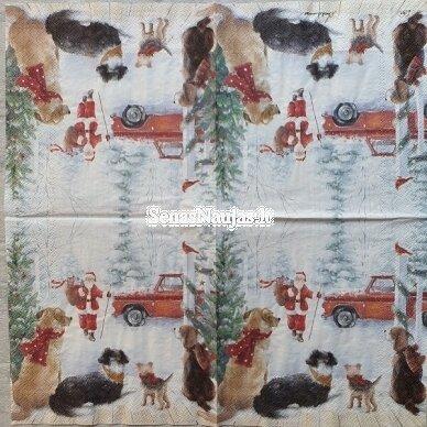 Popierinių servetėlių rinkinys su kalėdiniais, Kalėdų Senelis ir kt. 10