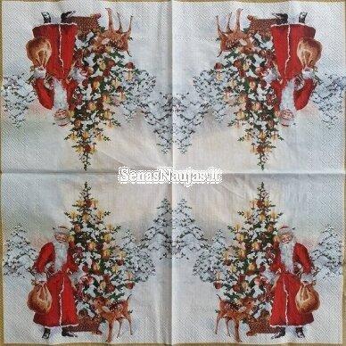 Popierinių servetėlių rinkinys su kalėdiniais, Kalėdų Senelis ir kt. 4