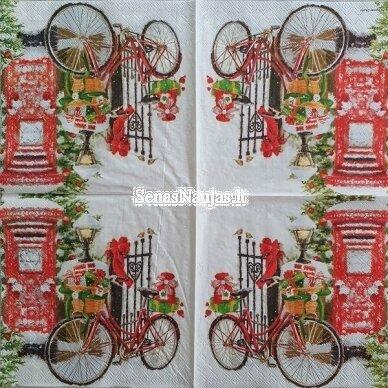 Popierinių servetėlių rinkinys su kalėdiniais, Kalėdų Senelis ir kt. 5