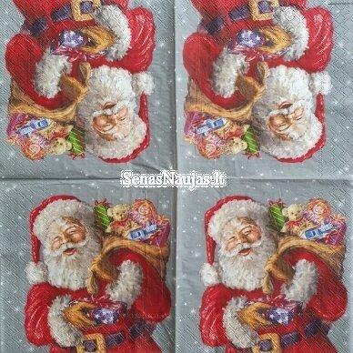 Popierinių servetėlių rinkinys su kalėdiniais, Kalėdų Senelis ir kt. 2