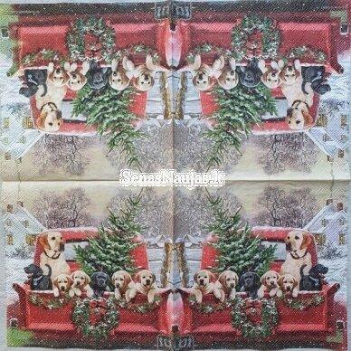 Popierinių servetėlių rinkinys su kalėdiniais, Kalėdų Senelis ir kt. 7