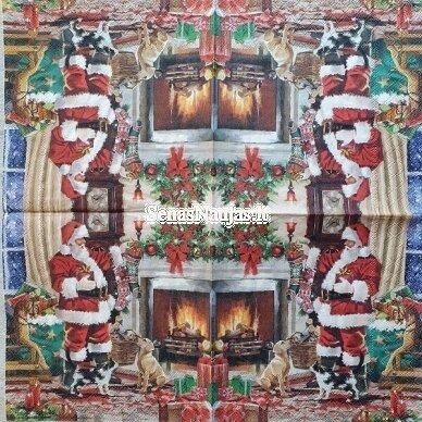 Popierinių servetėlių rinkinys su kalėdiniais, Kalėdų Senelis ir kt. 8