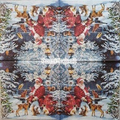 Popierinių servetėlių rinkinys su kalėdiniais, Kalėdų Senelis ir kt. 9