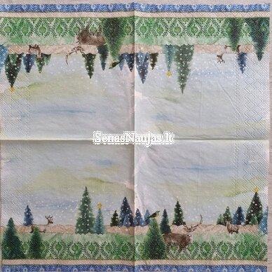 Popierinių servetėlių rinkinys su žiemos motyvais