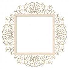 Puošni dekoravimo detalė iš kartono