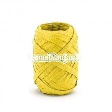 Rafija juostelės ritinėlis, geltona spalva