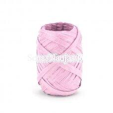 Rafija juostelės ritinėlis, rožinė spalva