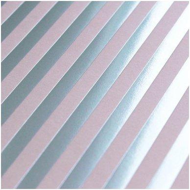 Reljefinis, metalo spindesio popierius 3