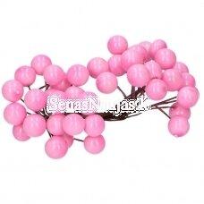 Rožinės spalvos uogos-rutuliukai, 40 vnt.
