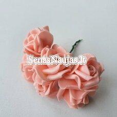 Rožytės iš putgumės, šviesi lašišos sp., 6 žiedai
