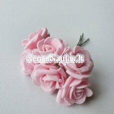 Rožytės iš putgumės, šviesi rožinė sp., 6 žiedai