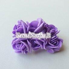 Rožytės iš putgumės, violetinė sp., 6 žiedai
