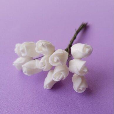 Rožytės iš putgumės, kreminė sp., 12 žiedų
