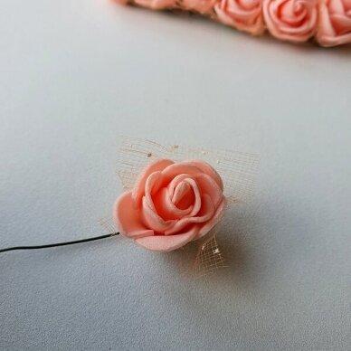Rožytės su tiuliu, lašišos sp., 12 žiedų