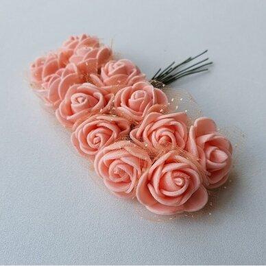 Rožytės su tiuliu, lašišos sp., 12 žiedų 2