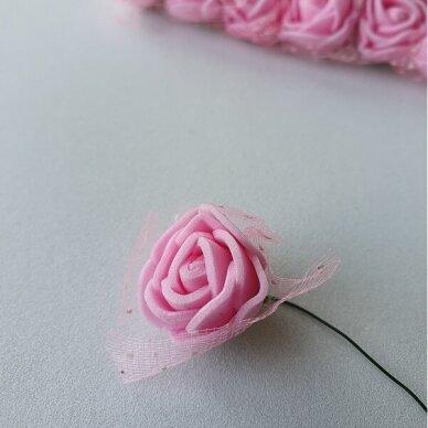 Rožytės su tiuliu, rožinė sp., 12 žiedų