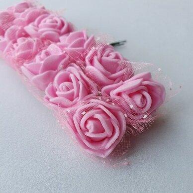 Rožytės su tiuliu, rožinė sp., 12 žiedų 3