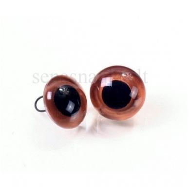 Rudos matinės stiklinės akys, 1 pora