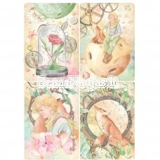 Rice paper for decoupage THE LITTLE PRINCE CARDS