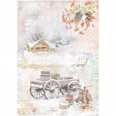 Rice paper for decoupage WINTER