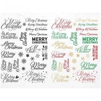 Ryžinė servetėlė Merry Christmas
