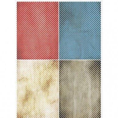 Ryžinis popierius dekupažui TAŠKIUKAI