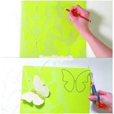 Šablonas drugeliams gaminti 2