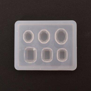 Maža silikoninė formelė STAČIAKAMPIAI ir OVALAI 2